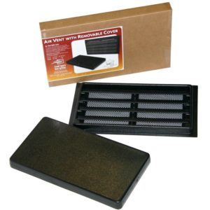 Foundation Air Vent with Removable Cover Black